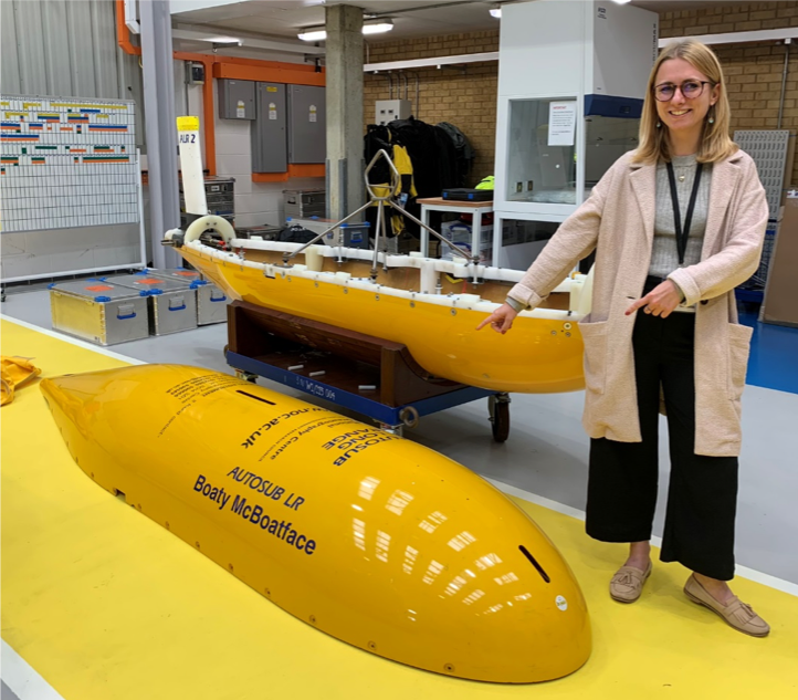 A photo from when I met Boaty McBoatface!